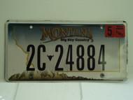 2007 MONTANA Big Sky License Plate 2C 24884