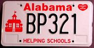 Alabama Helping Schools Kids License Plate 1