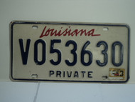 LOUISIANA Private License Plate V053630