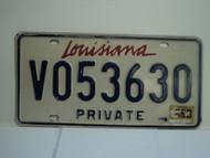 LOUISIANA Private License Plate V053630