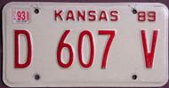 Kansas Dealer 1993 License Plate 3