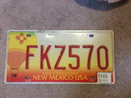 2005 Feb New Mexico License Plate FKZ570