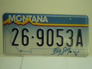 MONTANA Big Sky License Plate  26 9053A