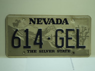 NEVADA Silver State License Plate 614 GEL