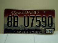 2008 IDAHO Famous Potatoes License Plate 8B U7590
