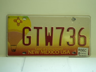 2008 NEW MEXICO Land Of Enchantment License Plate GTW736