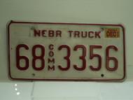 2002 NEBRASKA Commercial Truck License Plate 68 3356