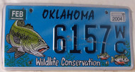 2004 Feb Oklahoma WildLife Conservation License Plate