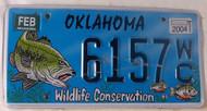 2004 Feb Oklahoma WildLife Conservation License Plate