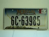 2010 MONTANA Big Sky Country License Plate 6C 63985