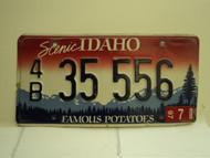 1997 IDAHO Famous Potatoes License Plate 4B 35 556