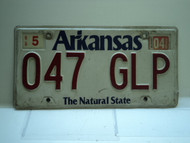 2004 ARKANSAS Natural State License Plate 047 GLP