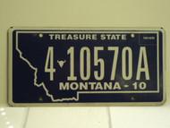 2010 MONTANA Treasure State License Plate 4 10570A