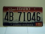 2003 IDAHO Famous Potatoes License Plate 4B 71046