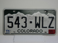 2011 COLORADO License Plate 543 WLZ