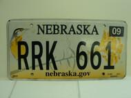 2013 NEBRASKA .GOV Western Meadowlark License Plate RRK 661
