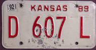 Kansas Dealer 1992 License Plate