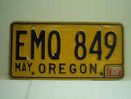 1980 OREGON License Plate EMQ 849