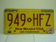1998 NEW MEXICO Land of Enchantment License Plate 949 HFZ