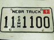 2005 Nebraska Otoe County Commercial Truck License Plate 11 1100