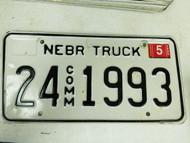 2005 Nebraska Cuming County Commercial Truck License Plate 24 1993