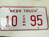 2005 Nebraska Platte County Commercial Truck License Plate 10 95