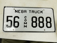 Nebraska Sherman County Commercial Truck License Plate 56 888 Triple Eight