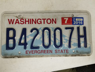 2016 Washington Evergreen State License Plate B42007H