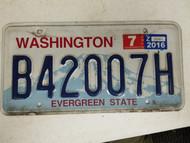 2016 Washington Evergreen State License Plate B42007H