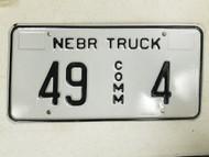 Nebraska Commercial Truck Howard County License Plate 49 4