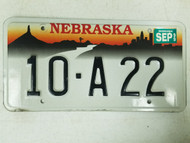 1999 Nebraska Platte County License Plate 10-A 22