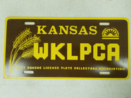 Kansas West Kansas License Plate Collectors Association License Plate WKLPCA
