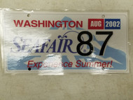2002 Washington Seafair Experience Summer! License Plate 87