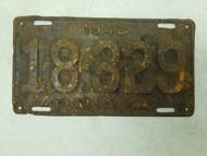 1942 Panama License Plate 18-329