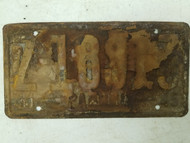 1944-1945 Panama License Plate Z-18913