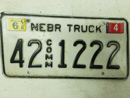 2005 Nebraska Commercial Truck License Plate 42 1222