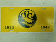 1933-1942 Civilian Conservation Corps (CCC) River Booster License Plate