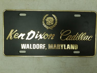 Ken Dixon Cadillac Waldorf Maryland Booster License Plate