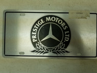 Prestige Motors LTD. Mercades Booster License Plate