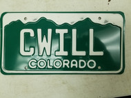 Colorado License Plate CWILL