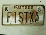 Kansas Johnson County License Plate F1STXA