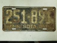 1948 Minnesota 10,000 Lakes License Plate 251-891