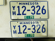 1979 Minnesota License Plate 12-362 Pair