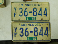 1979 Minnesota License Plate 36-844 Pair