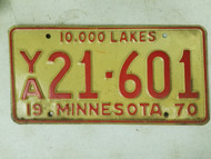 1970 Minnesota License Plate 21-601