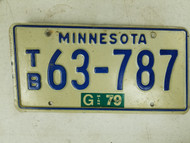 1979 Minnesota License Plate 63-787
