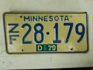 1979 Minnesota License Plate 28-179