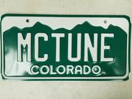 Colorado License Plate MCTUNE