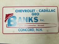 New Hampshire Chevrolet Cadillac GEO Banks Booster License Plate