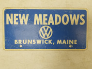 Brunswick, MAINE New Meadows Volkswagon Booster License Plate